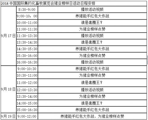 """018中国国际集约化畜牧展览会猪业榜样日活动通知"""""""