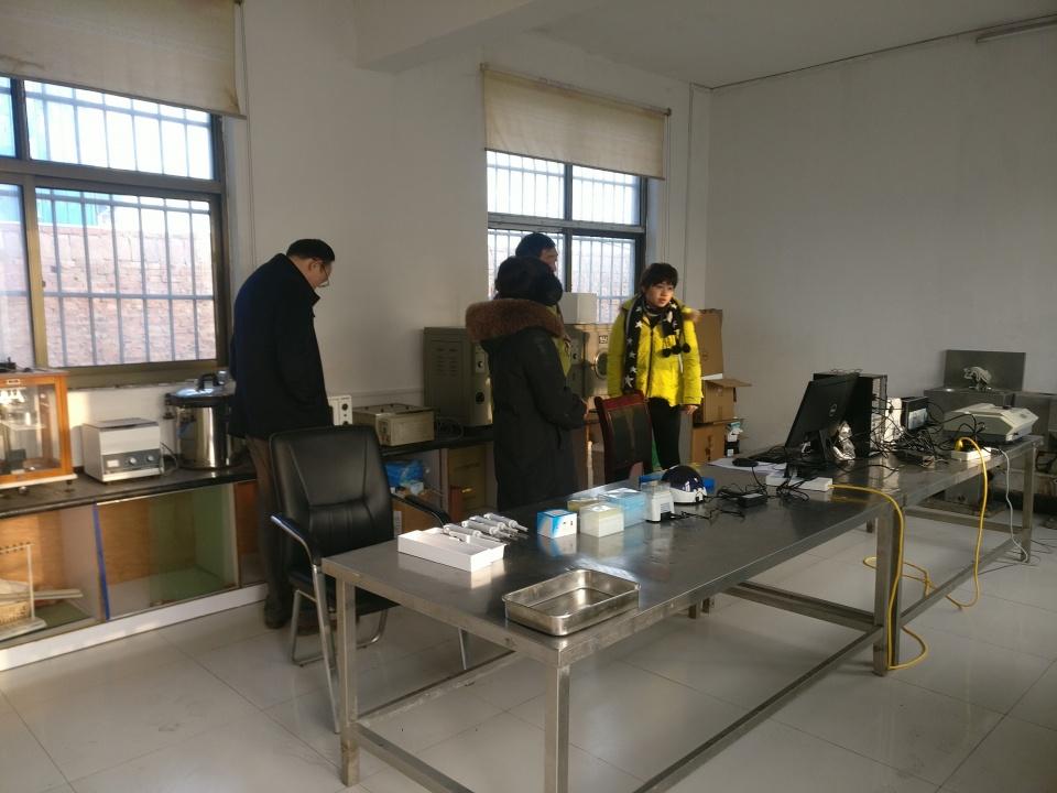 焦作市开展生猪屠宰企业非洲猪瘟实验室现场指导工作